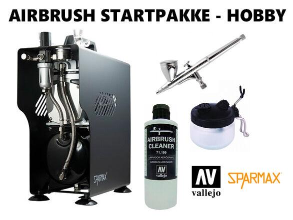 Airbrush Startpakke HOBBY - Komplett Alt du trenger for å komme igang