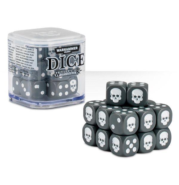 Cube Dice Cube Grey - 20 stk 20 terninger til Warhammer 40K/Sigmar