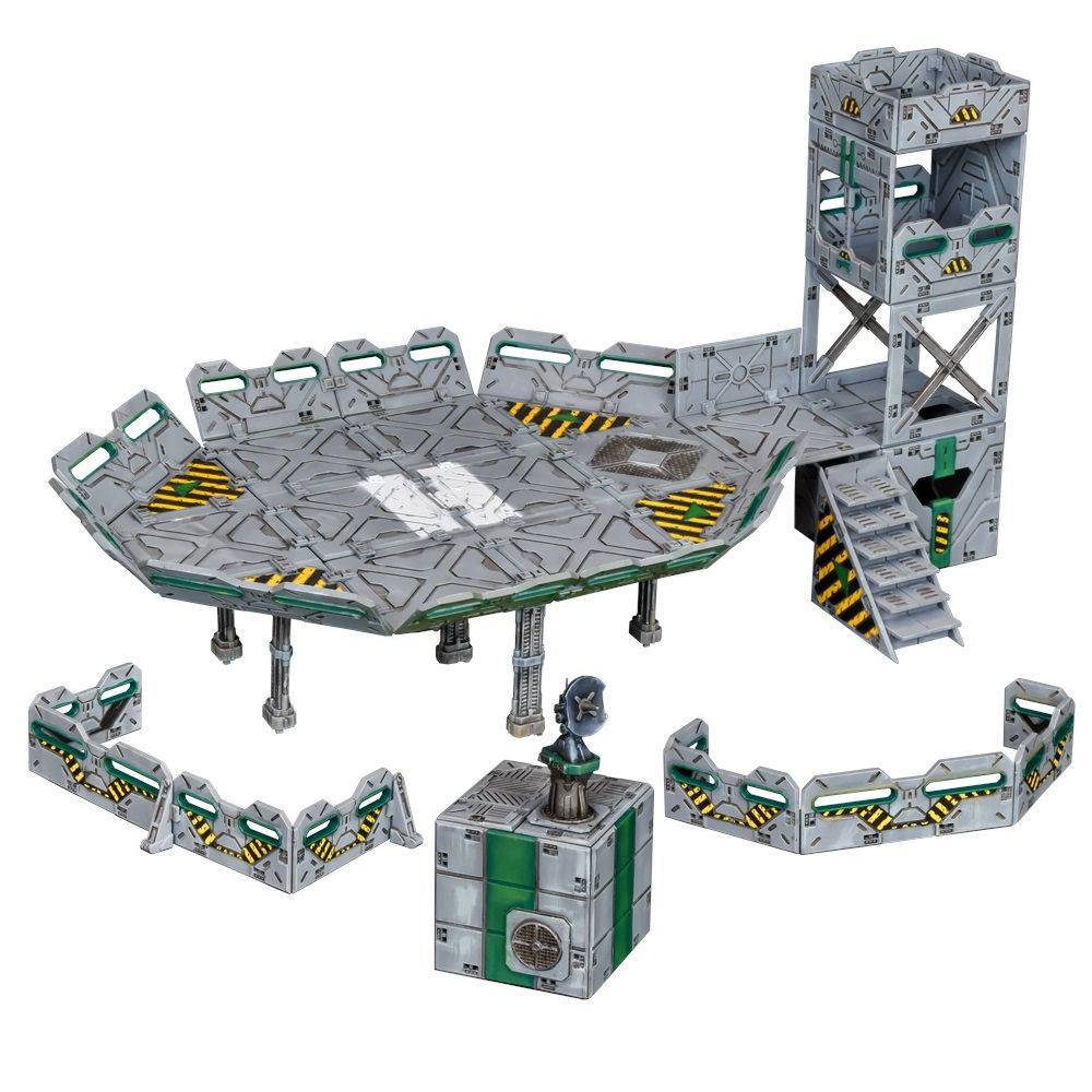 Zone Terrain Crate Landing Zone Terreng Mantic Games Sci-fi bygninger