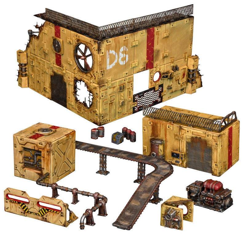 Zone Terrain Crate Industrial Zone Terreng Sci-Fi bygninger/ruiner fra Mantic Games