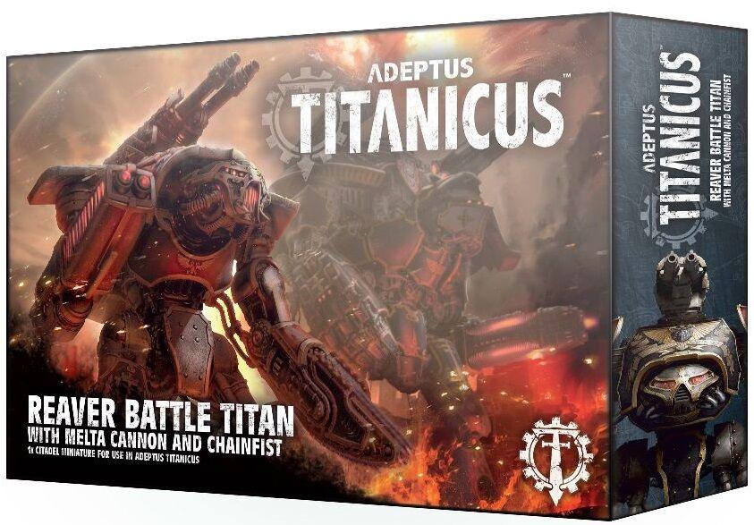 Titanicus Reaver Titan w/ Melta Cannon Adeptus Titanicus