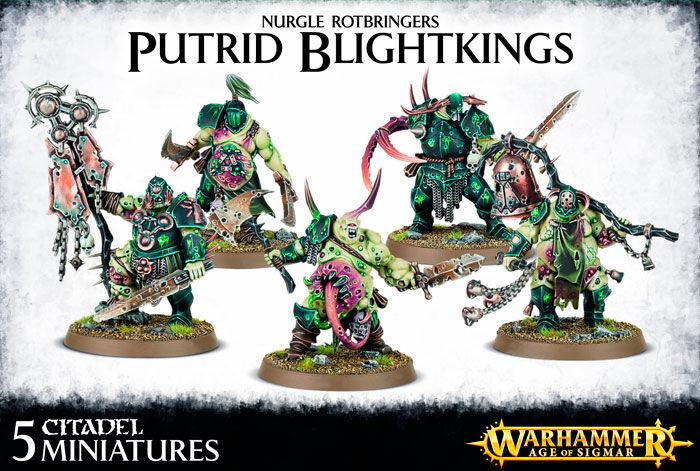 Nurgle Rotbringers Putrid Blightkings Warhammer Fantasy