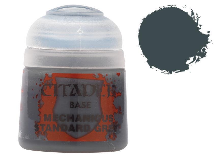 STD Citadel Paint Base Mechanicus std. Grey Tilsvarer P3 Great Goat Grey