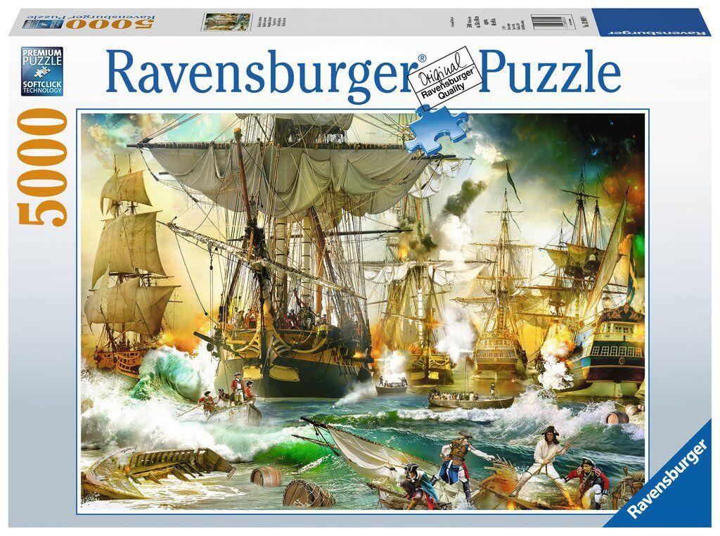 Seas Battle on the High Seas 5000 biter Ravensburger Puzzle Puslespill