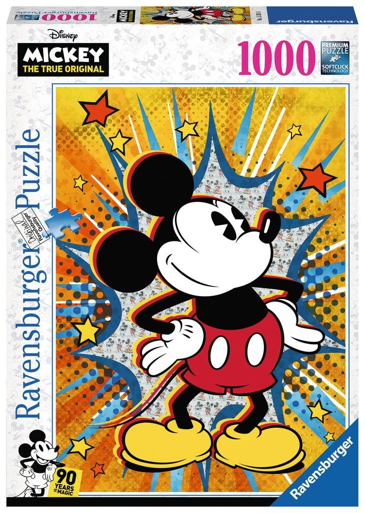 Retro Mickey Mouse 1000 biter Puslespill Ravensburger Puzzle