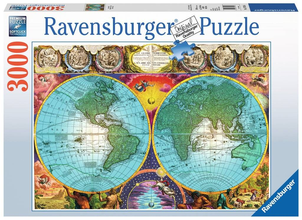 Antique Map 3000 biter Puslespill Ravensburger Puzzle