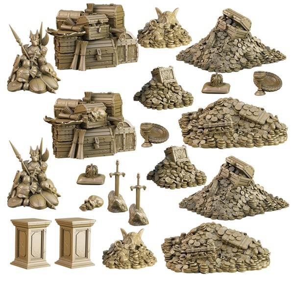 Terrain Crate Treasury  22 deler Fra Mantic Games