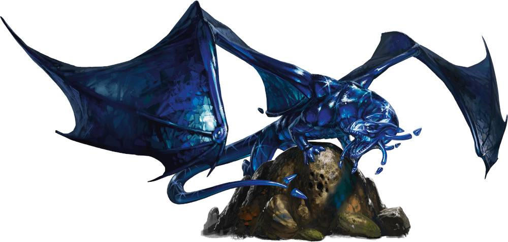 Sapphire D&D Figur Icons Sapphire Dragon Dungeons & Dragons Icons of the Realms