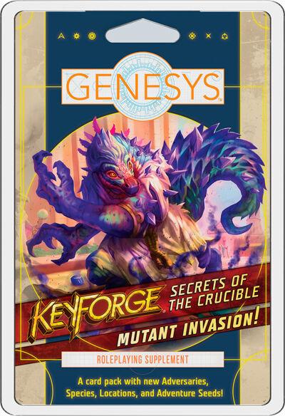 Mutant Genesys RPG Keyforge Mutant Invasion Adversary Deck - Secrets of the Crucible
