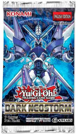 Yu Gi Oh Dark Neostorm Booster 9 kort per pakke