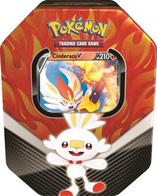 Pokemon Tin Galar Partners Cinderace V Spring 2020 Collector's Tin Box