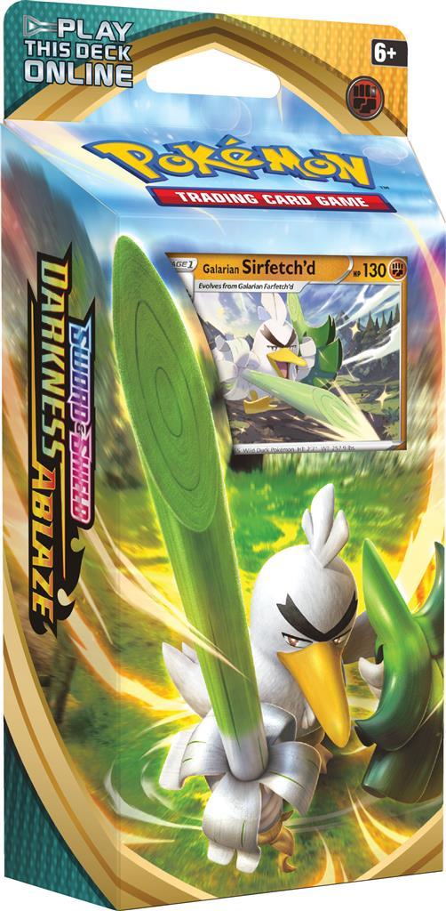 Pokemon Darkness Ablaze Theme Sirfetchd Sword & Shield 3 Theme Deck