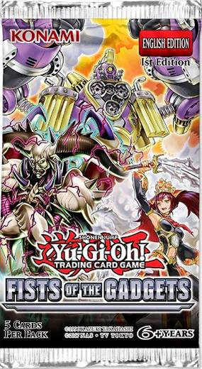 Yu Gi Oh Fists of the Gadgets Booster 5 kort per pakke