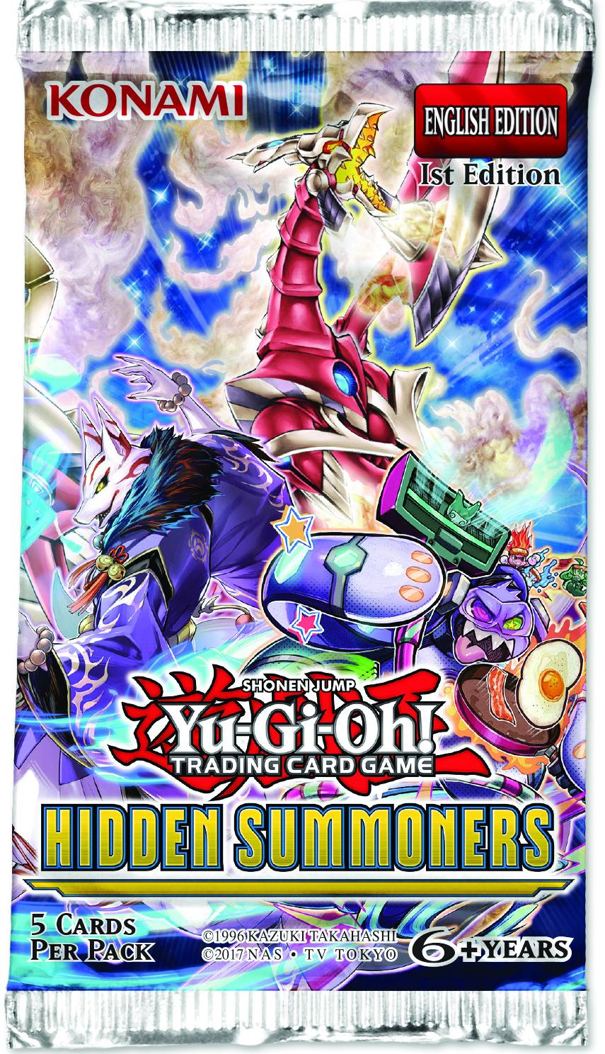 Yu Gi Oh Hidden Summoners Booster 5 kort per pakke