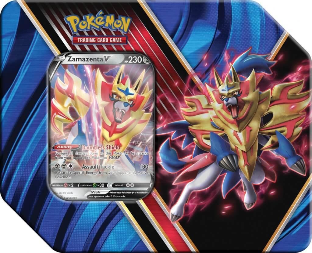 Pokemon Tin Box Zamazenta V Legends of Galar Summer 2020