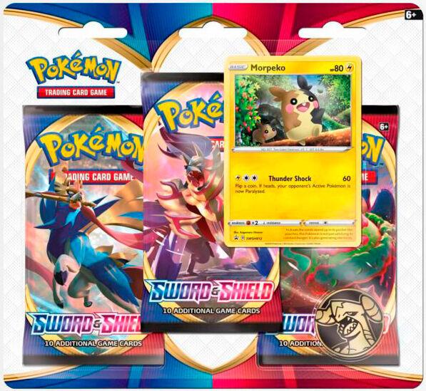 Pokemon Sword & Shield 3-Pack Morpeko 3 boosterpakker + 1 Limited Edition kort