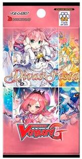 Vanguard Cardfight Vanguard Divas Festa Booster 7 tilfeldige kort per pakke