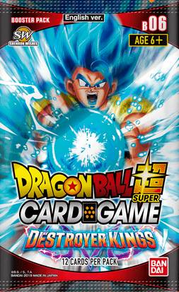 Dragon Ball SCG B06 Destroyer Kings Super Card Game - Booster Pack 06