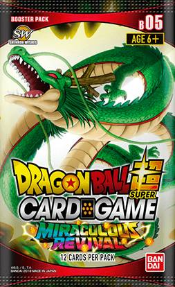 Dragon Ball SCG B05 Miraculous Revival Super Card Game - Booster Pack 05