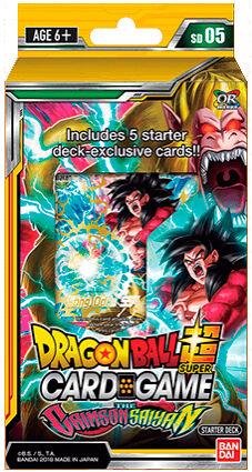 Dragon Ball SCG SD05 Crimson Saiyan Super Card Game - Starter Deck 05