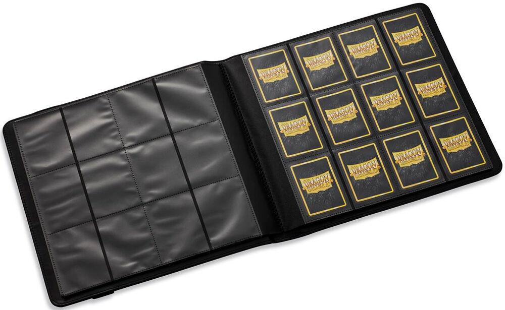 Dragon Album Card Codex 576 Portfolio - Svart Dragon Shield album 4x3 lommer 576 kort
