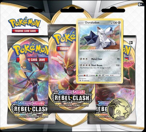 Pokemon Rebel Clash 3-Pack Duraludon Sword & Shield 2
