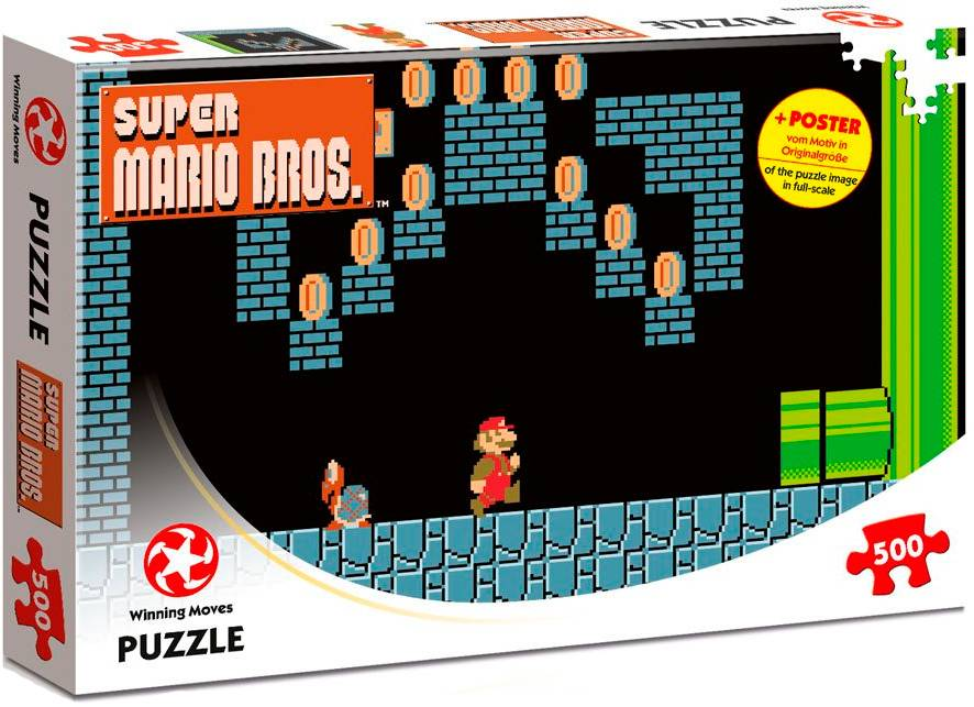 Super Mario Puslespill Underground 360 biter - Med plakat
