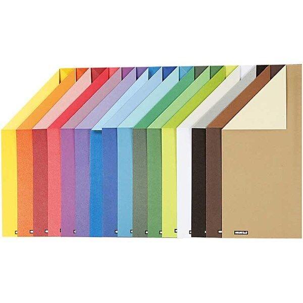 Color Bar rivekartong, A4 210x297 mm,  250 g, ass. Farger, ensfarget kartong, 160ass. ark (Z000014386)