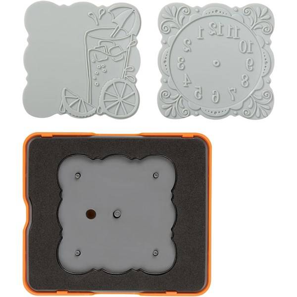 Fuse® - Designsett, str.  10x12  cm, buet firkant, 1sett (Z000000721)