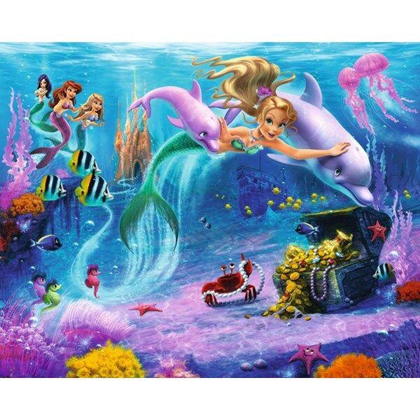 Mermaids-Väggtapet, Walltastic (Z000093918)