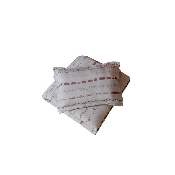 Littleheart Little City Sengesett 100 % økologisk bomull 70x80, 28x35 cm Soft Pink (Z000135483)