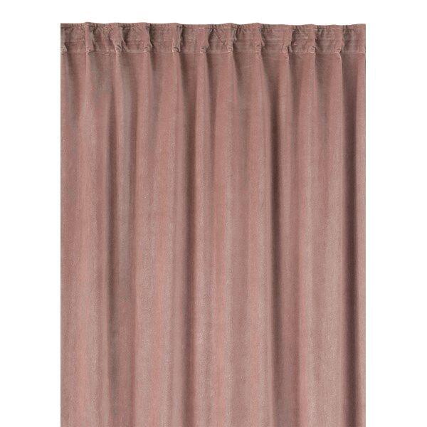 Linum Paolo Gardin med veckband 100% Bomull 135 x 290 cm Dusty Pink (Z000151785)
