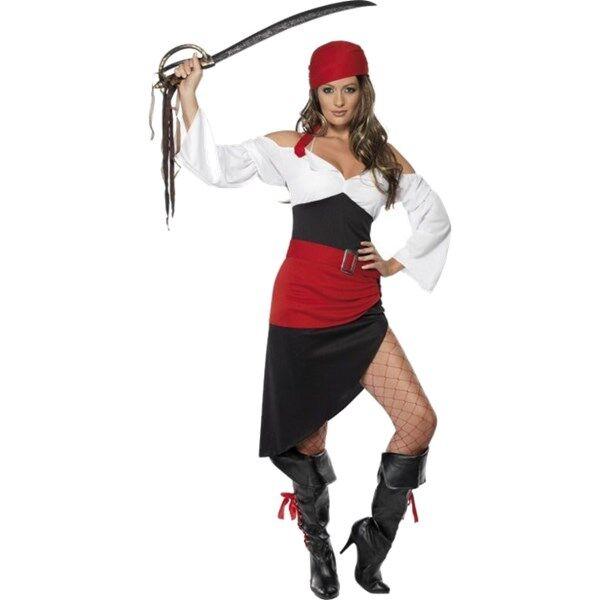 Frekk Pirat Tøs Kostyme med Skjørt (Z000106111)