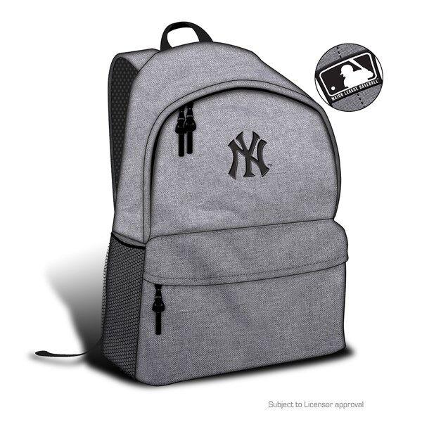 Grå ryggsäck med NY-motiv (Z000113084)