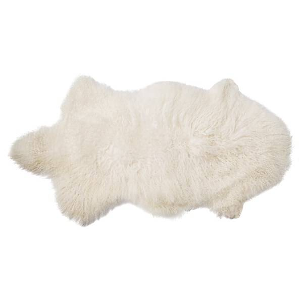 Bloomingville Saueskinn Lammeskinn Mongolsk Lengde 90 cm, Bredde 50 cm Hvit (Z000113467)
