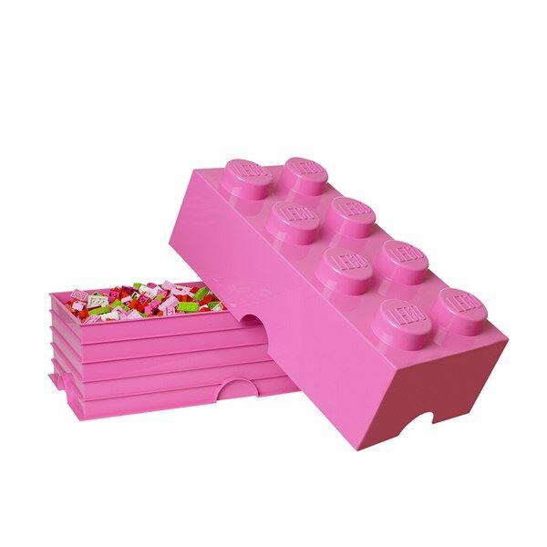 Lego Oppbevaringsboks 8, Rosa (Z000060823)