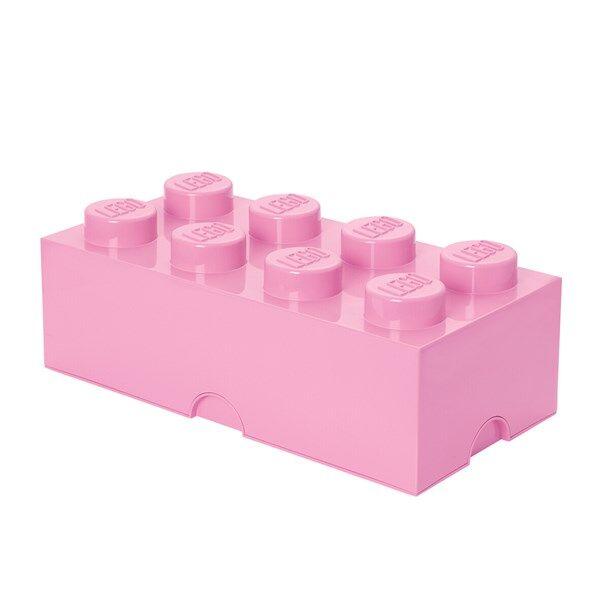 Lego Oppbevaringsboks 8, Lyserosa (Z000060825)