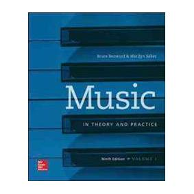 Benward, Bruce Workbook t/a Music in Theory and Practice, Volume I (0077493311)