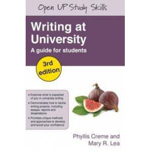 Creme Phyllis Writing at University: A Guide for Students (0335221165)