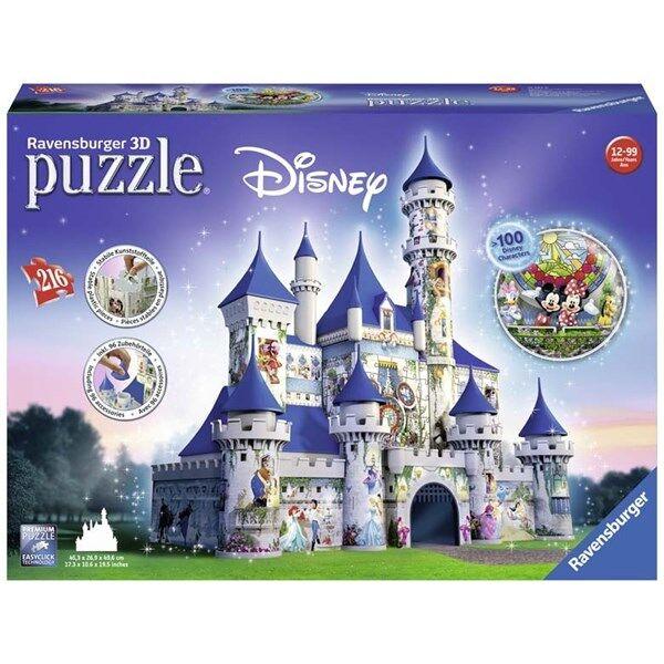 Disney Castle, 3D Puslespill, 216 brikker, Ravensburger (Z000165136)