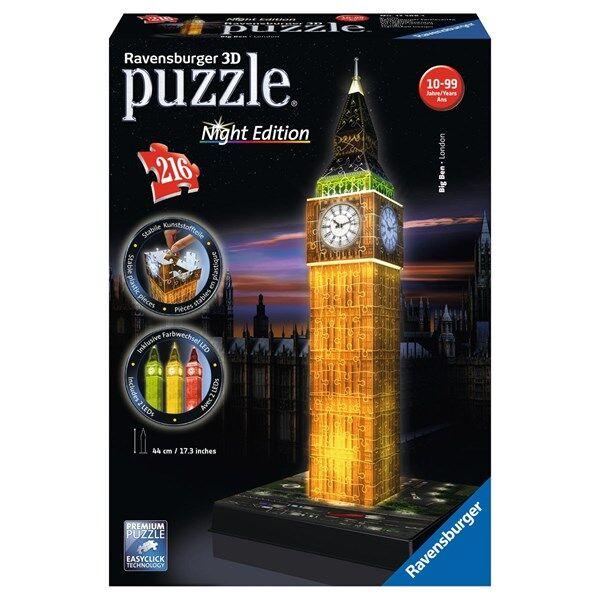Big Ben Night Edition, 3D Puslespill, 216 brikker, Ravensburger (Z000165137)