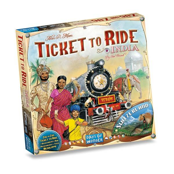 Ticket To Ride, India Expansion, Familiespill (Z000142363)