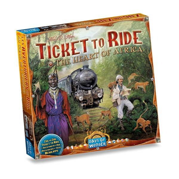 Ticket To Ride Map, Africa Expansion, Familiespill (Z000142364)