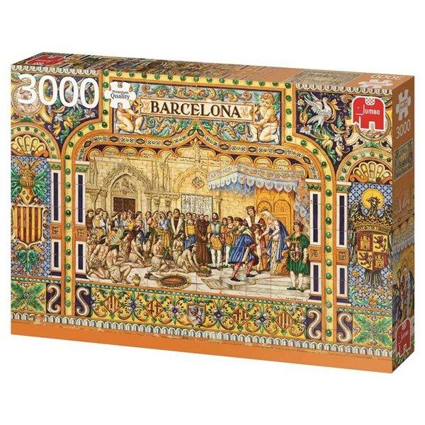 Tiles of Barcelona, Puslespill, 3000 brikker, Jumbo (Z000164767)
