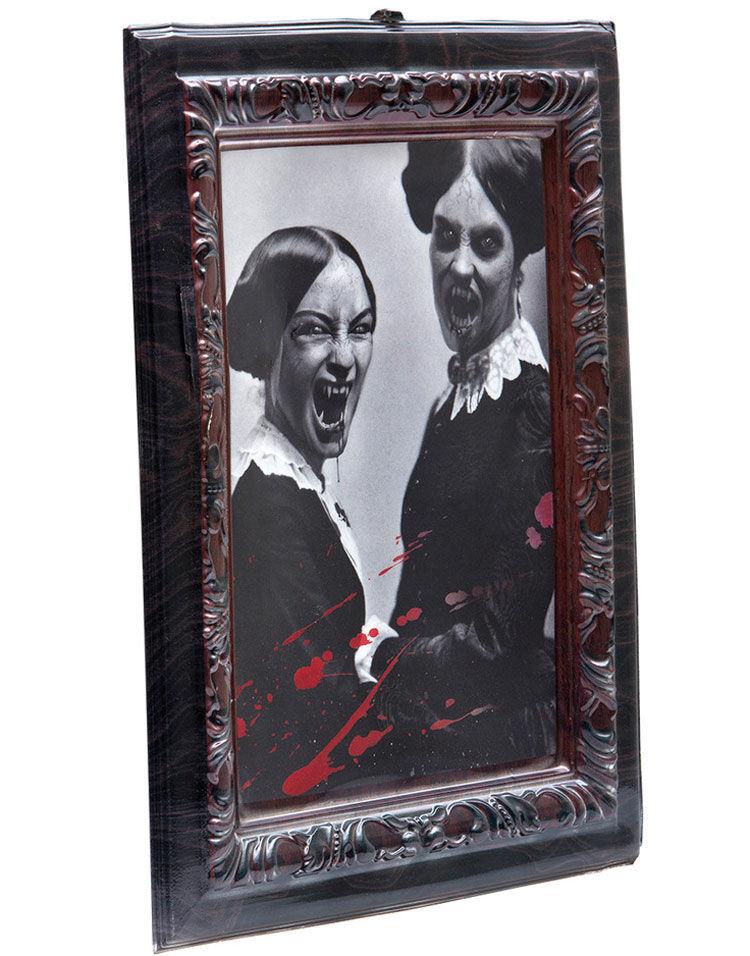 Vampyrsøstre - 3D-bilde med Plastramme 48 x 36 cm