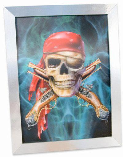3D Pirat Veggbilde 40x30 cm