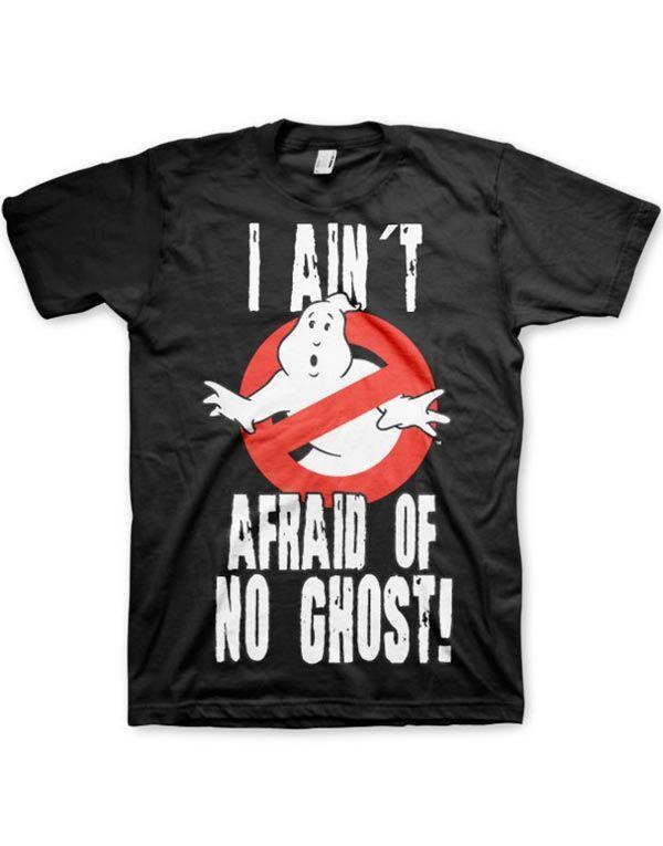 I Ain't Afraid of no Ghost - Svart Unisex T-skjorte