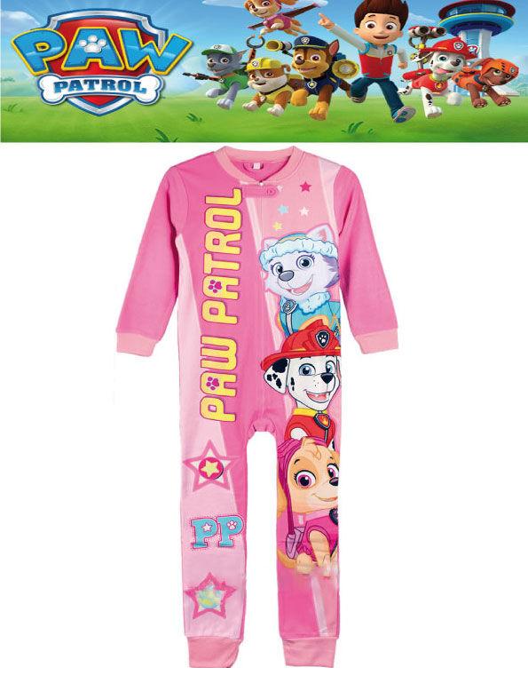 Lisensiert Rosa Paw Patrol Fleece Pyjamas til Barn