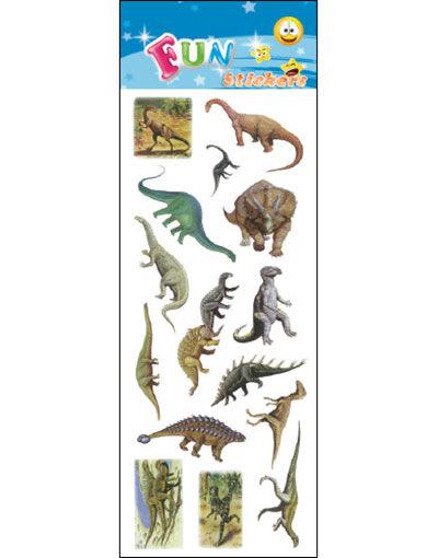 15 stk Klistremerker av Dinosaurer