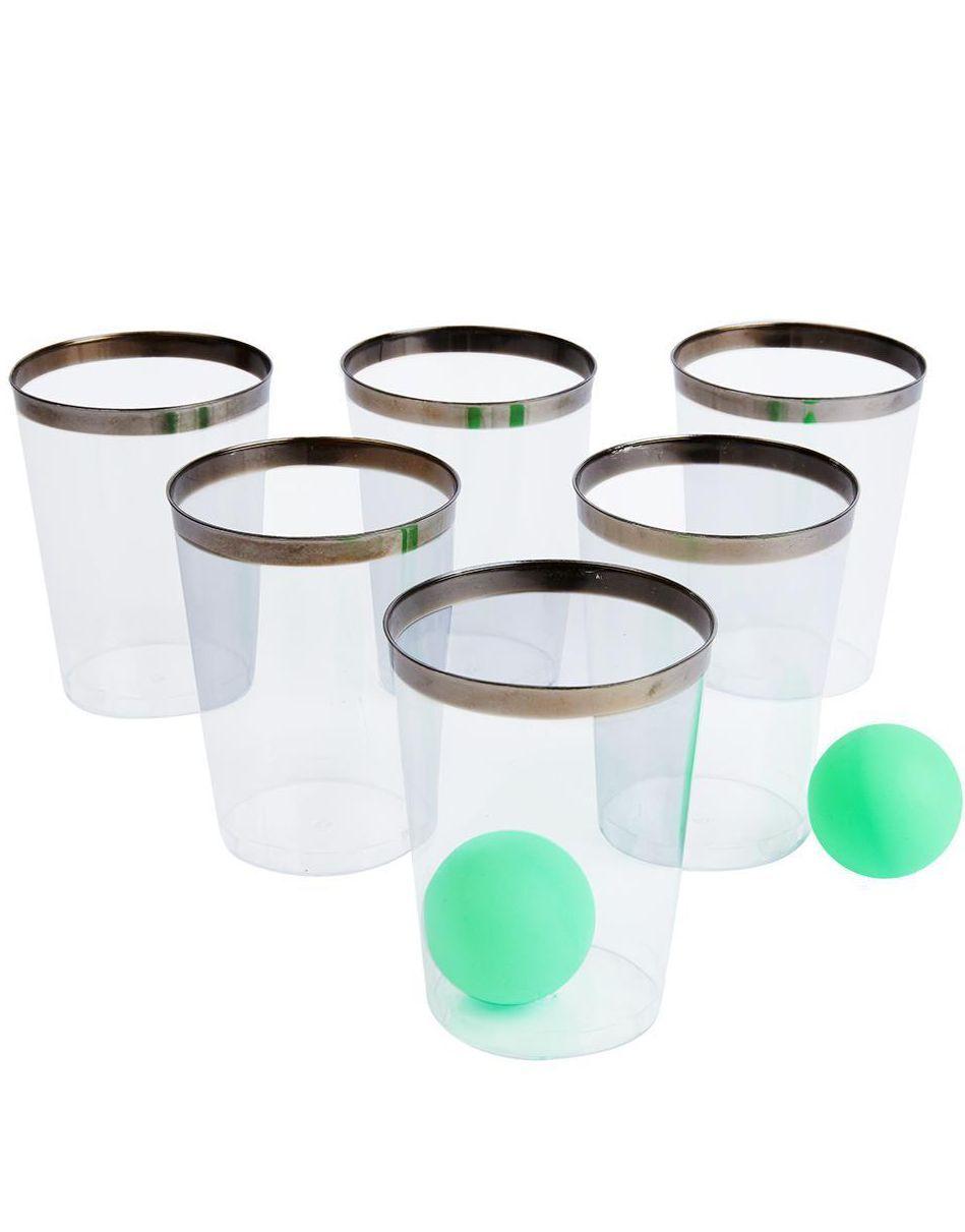 Party Pong Gin Edition - Drikkespill med 12 Glass og 2 Baller
